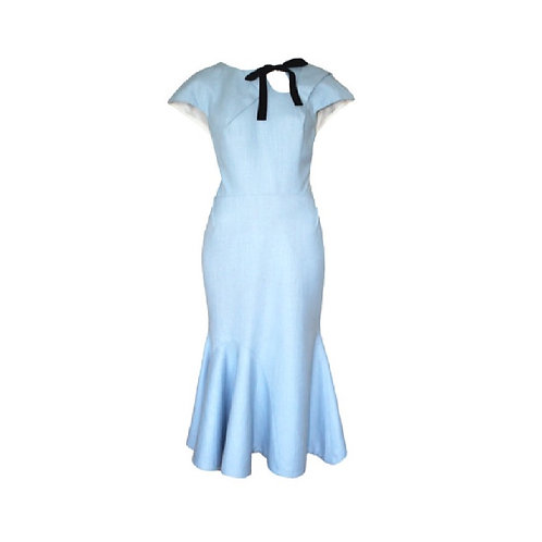 Imara Light Blue  Midi Dress