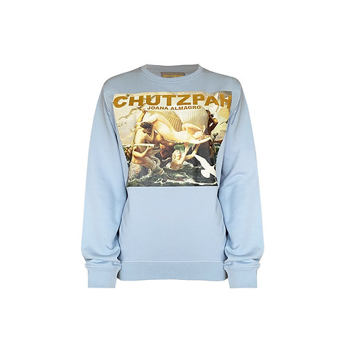 Light Blue Chutzpah Sweater Without Straps