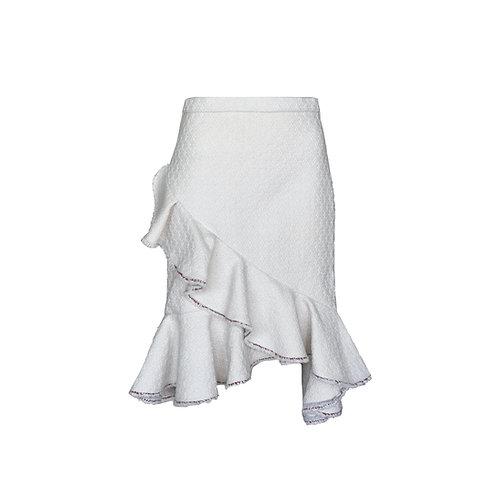 Frilled Wool Mix  Jamilla Skirt
