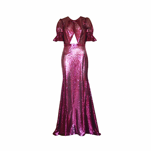 Sequinned Fuchsia PinkGown