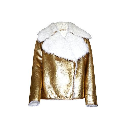 Gold Reversible Bomber Jacket