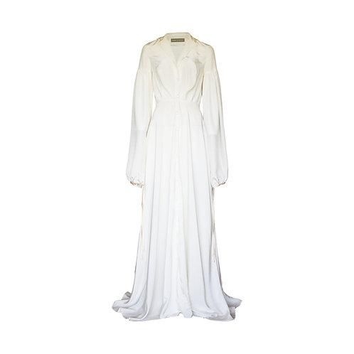 Creme Versus A- Line Gown