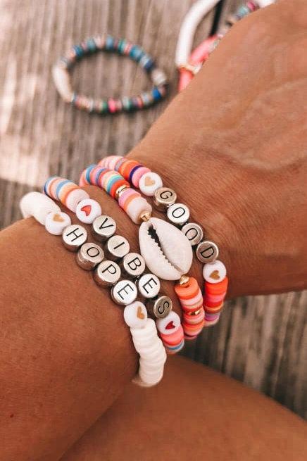 Ensemble Bracelet messager Good Vibes