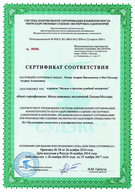 сертификат соответствия на полиграфную проверку