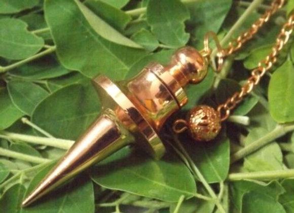 Металлический маятник - капсула с медным покрытием на цепочке