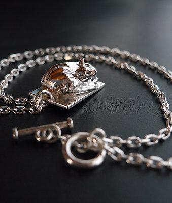 Silver 950 Necklace / Patient Deer