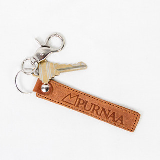 Purnaa Strap Leather Keychain