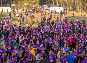 Purnaa at the Women's Day Fun Run