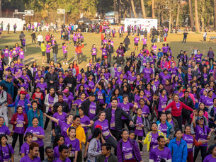 Purnaa at the Women's Day Fun Run