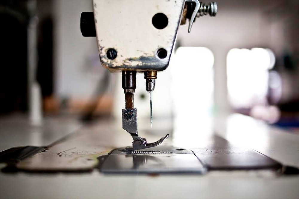 Textile manufacturing - sewing machine