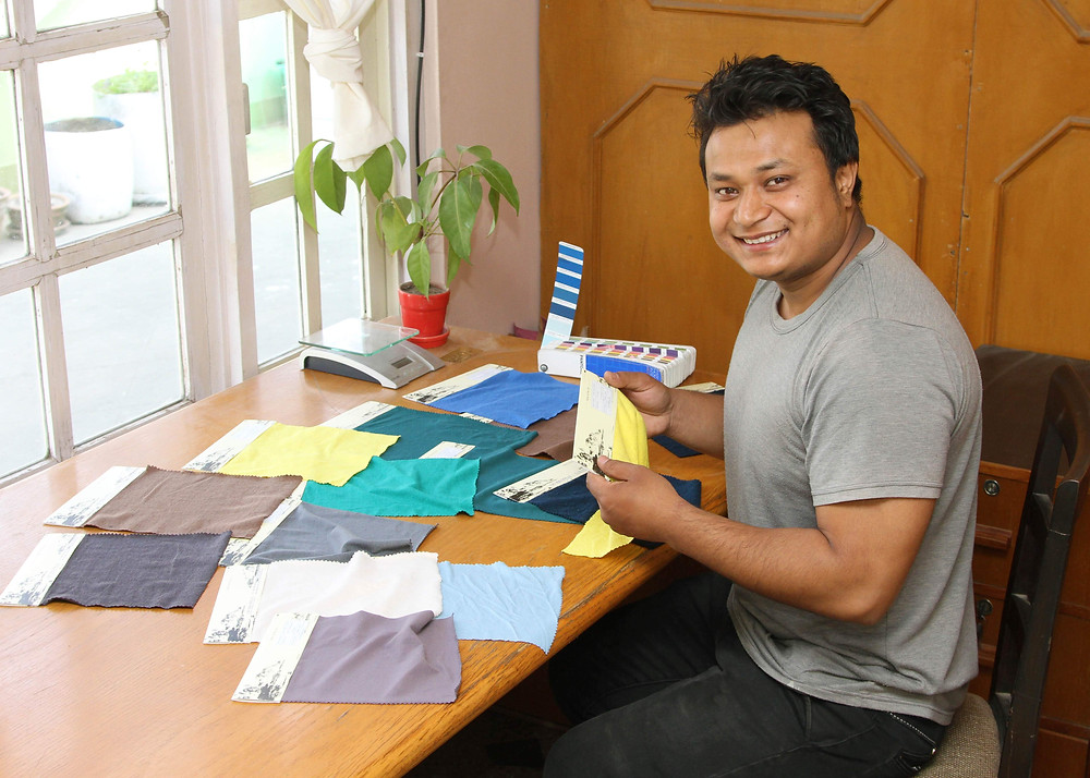 Material Swatches, sourcing fabric in Nepal