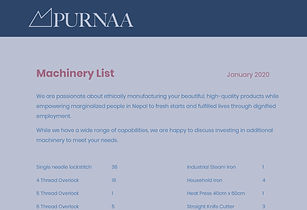 Machinery List Cover