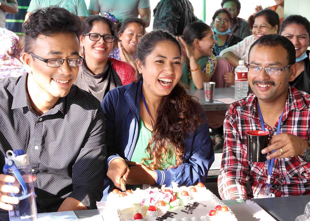 Purnaa staff enjoying time together