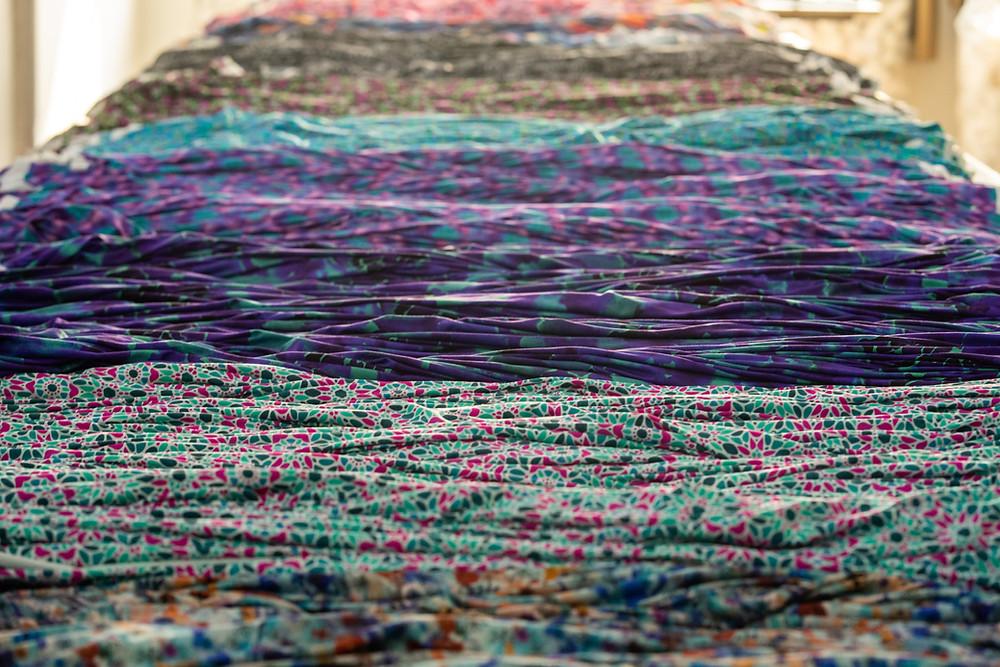 Digitally printed fabric