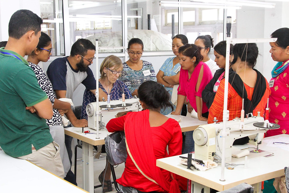 Manufacturing training. Empowering Nepali Women