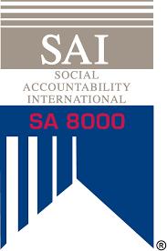 SA 8000 logo