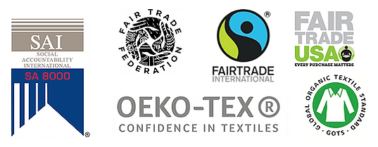 Sustainability-Fairtrade-Logos OEKO-TEX GOTS