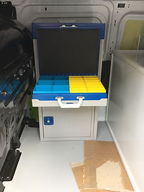 veterinary ambulance conversion van racking kennels animal transport