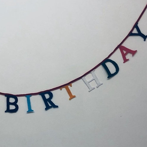 Letter Bunting - Happy Birthday