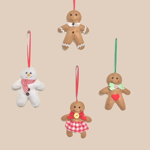hanging Gingerbread dolls
