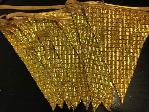 Banner Bunting - Gold