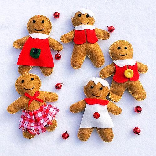 Gingerbread rag dolls