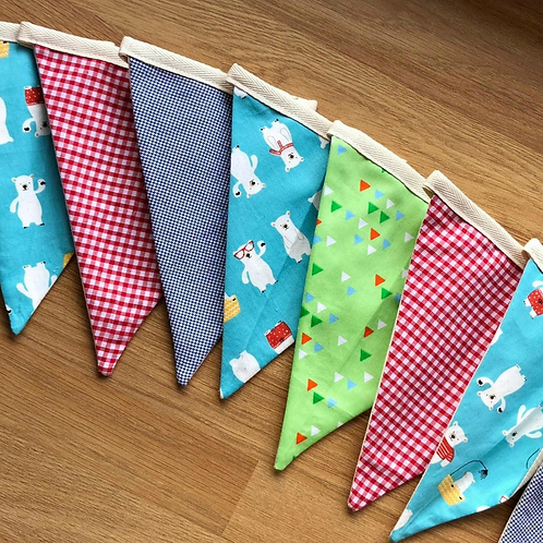 Banner bunting - Bear party