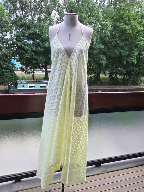 Yellow summer slip dress