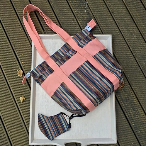 Large shoulder tote