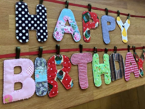 Large Letter Bunting - Happy Birthday