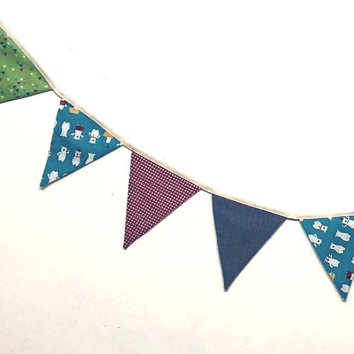 Banner Bunting - reversible multi coloured
