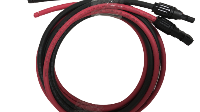 Pair 5ft Black+5ft Red PT-12-0505,SolarPanelWire(connectors compatible with MC4)