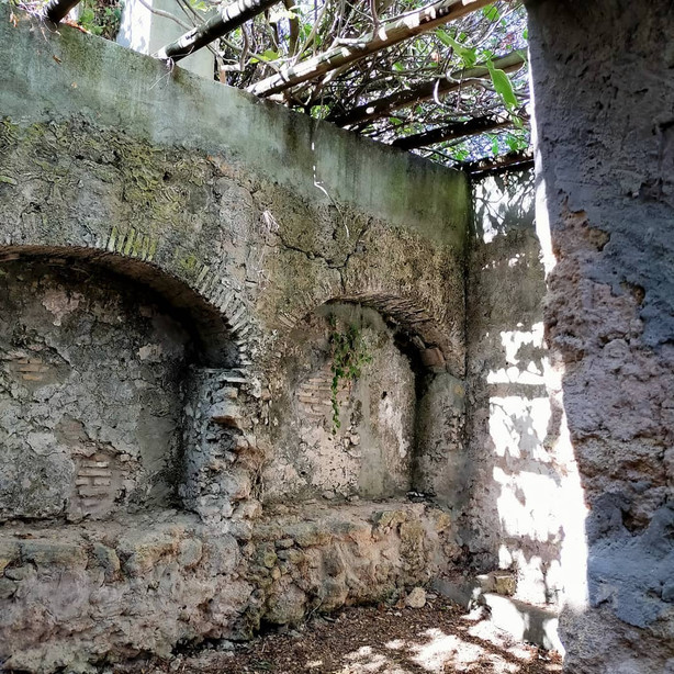 The Roman ruins located within a 10 minute walk