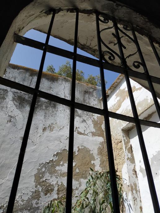 View through internal courtyard