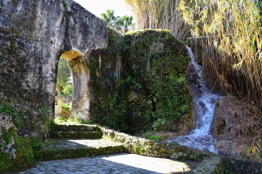The roman aqua duct water used to run the mill machiney located at Casa Ducal