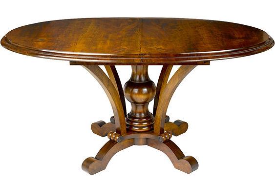 WA HOO DESIGNS Custom Oval Old Vienna Table, solid wood table