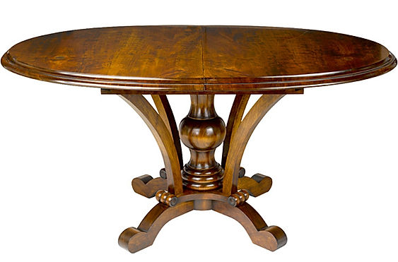 WA HOO DESIGNS Custom Oval Old Vienna Table, solid wood table
