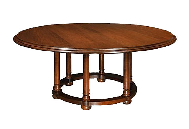 WA HOO DESIGNS Six Legged Round Table, solid wood table