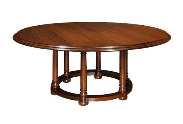 WA HOO DESIGNS Six Legged Round Table, solid wood table