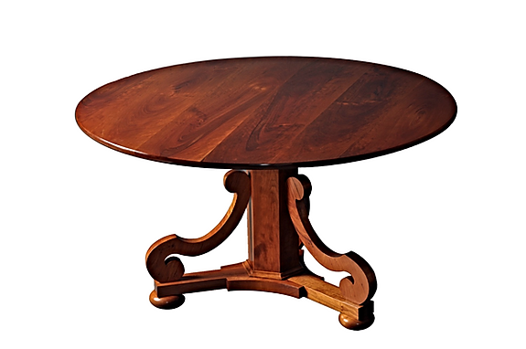 WA HOO DESIGNS Scroll Base Table, solid wood table