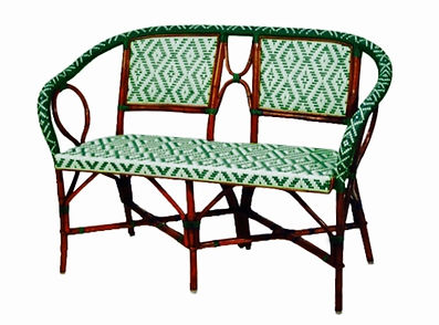 FRENCH BISTRO LOVESEAT by WAHOO DESIGNS