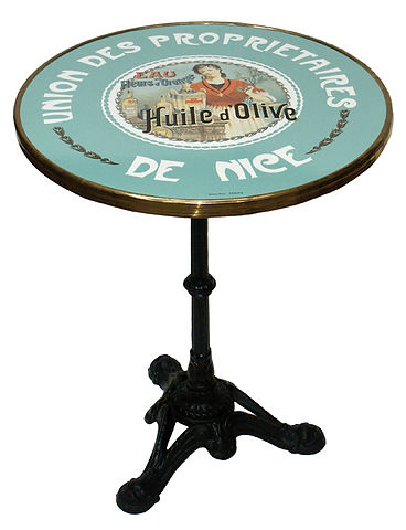 FRENCH BISTRO TABLE, HULIE D OLIVE  by WA HOO DESIGNS
