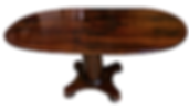 WA HOO DESIGNS OVAL COLUMN BASE TABLE,  solid wood table
