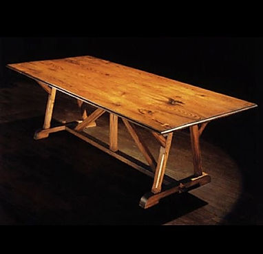WA HOO DESIGNS Architect Base Table, solid wood table