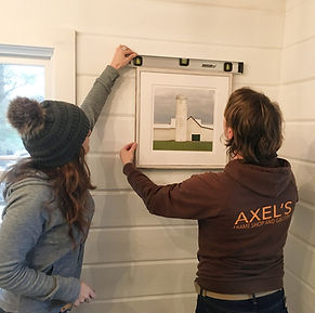 Art Installation at Axel's Frame Shop & Gallery, Watebury VT