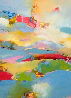 """36"""" x 48"""" Elysium by Kate Fetherston at Axel's Gallery, Waterbury VT"""