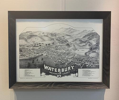 B&W Waterbury Map