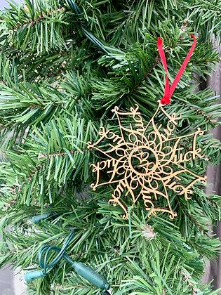 F* Snowflake Ornament