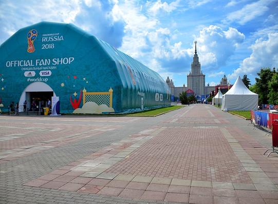 Москва, жара, фан-зона