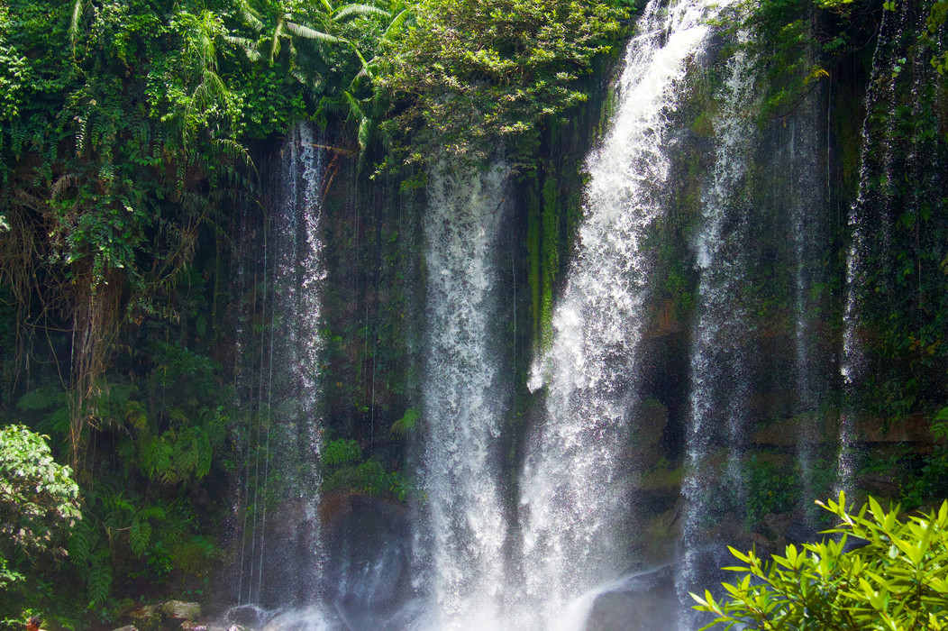 Another amazing waterfall, this time near Sihanoukville, Cambodia, hidden in the mountains.
